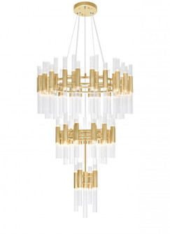 123 Light Chandelier with Satin Gold Finish (3691 1120P32123602)