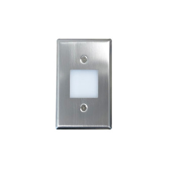 Mini LED Step Light w/ Frosted Glass Lens Face Plate, 1W, 90+ CRI, 3000K, Brushed Nic (104 NSW6629BN)
