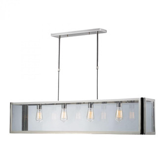 Parameters 4-Light Linear Chandelier in Polished Chrome with Clear Glass (91 312134)