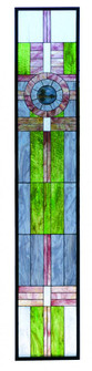 15.25W X 83.75H Maxfield Parrish Custom Stained Glass Window (96|72445)
