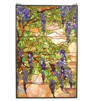 32W X 48H Tiffany Wisteria & Snowball Stained Glass Window (96|51338)
