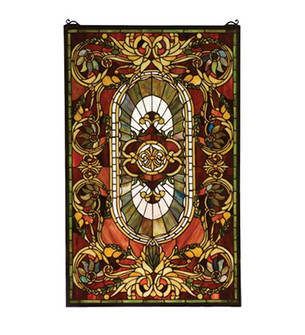 20W X 32H Regal Splendor Stained Glass Window (96|78103)