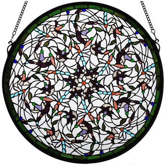 22W X 22H Dragonfly Stained Glass Window (96|98951)