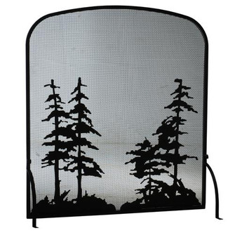 """40""""W X 44""""H Tall Pines Arched Fireplace Screen (96