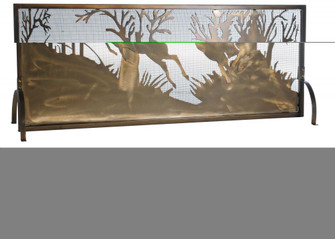 """44""""W X 31.5""""H Deer on the Loose Fireplace Screen (96
