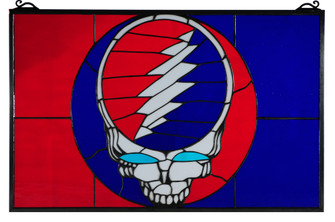 28W X 18H Greatful Dead Stained Glass Window (96|141459)
