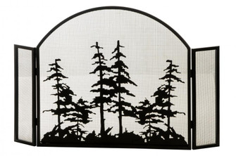 """50""""W X 34""""H Tall Pines Arched Fireplace Screen (96