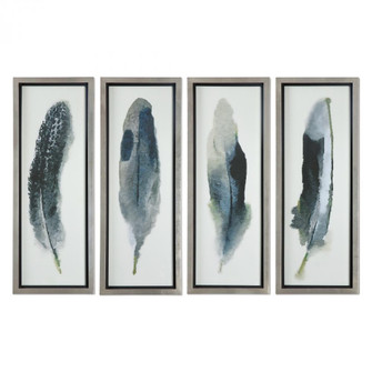 Uttermost Feathered Beauty Prints, S/4 (85|41554)