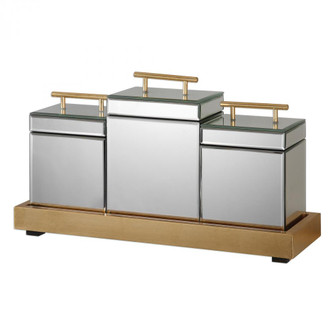 Uttermost Faustina Mirrored Boxes And Tray S/4 (85|20131)