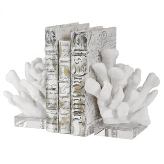 Uttermost Charbel White Bookends, Set/2 (85 17549)