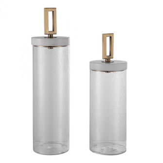 Uttermost Hayworth Seeded Glass Containers, Set/2 (85|17545)
