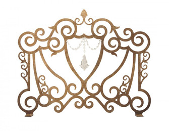 """42"""" Wide Crystal Crest Fireplace Screen (96