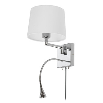 Wall Sconce w/Reading Lamp, PC Finish (865 DLED426A)