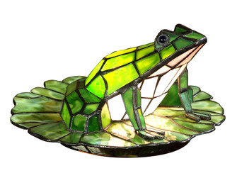 Frog Lily Pad Tiffany Accent Table Lamp (208|TA101231)