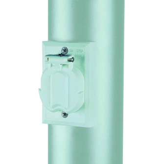 Convenience Electrical Outlet Accessory for Lamp Post (245 338WH)