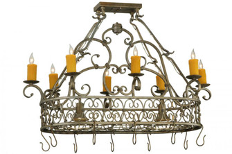 40'' Long Cira Oblong Lighted Pot Rack (103 87128340DL)