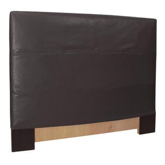 Howard Elliott Full Queen Headboard Faux Leather Avanti Black Cover Only (3246|123194)