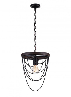 1 Light Mini Chandelier with Black finish (3691|9962P91101)