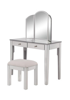 Vanity Table 42 in. x 18 in. x 31 in. and Mirror 32 in. x 24 in. and Chair 18 in. x 14 in. x 18 in.? (758|MF62012S)