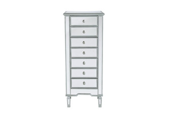 Lingerie Chest 7 drawers 20in. W x 15in. D x 48in. H in antique silver paint (758 MF61047S)