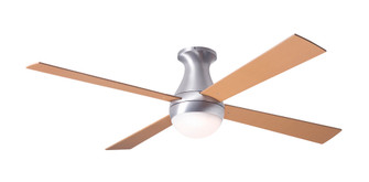 Ball Flush Fan Brushed Aluminum Finish 52 Maple Blades 20W LED Wall Control with Remote Ha (105|BALFMBA52MP652005)