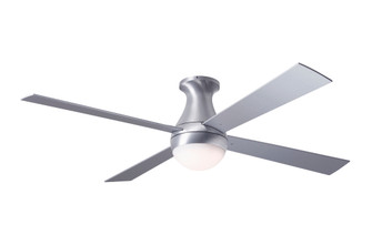 Ball Flush Fan Brushed Aluminum Finish 52 White Blades 20W LED Wall Control with Remote Ha (105|BALFMBA52WH652005)