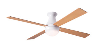 Ball Flush Fan Gloss White Finish 42 Maple Blades 20W LED Wall Control with Remote Handset (105|BALFMGW42MP652005)