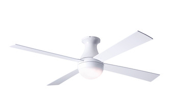 Ball Flush Fan Gloss White Finish 52 White Blades 20W LED Wall Control with Remote Handset (105|BALFMGW52WH652005)