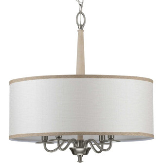Durrell Collection Four-Light Brushed Nickel Chandelier (149|P400218009)
