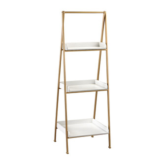Kline Accent Shelf in White and Gold (7480|35110205)