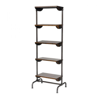 Industry City Bookcase in Black and Natural Wood Tone (7480|3200234)