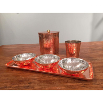 Copper (3) Bowls with (1) Tray (4606 BOWL018S4)