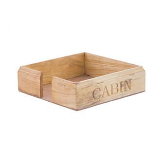 Cabin - Carved Paper Napkin Holder (4606 HOLD014)