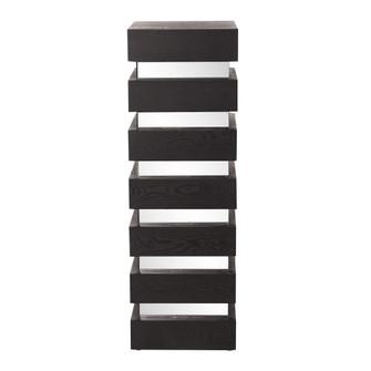Howard Elliott Stepped Black Wood Veneer Pedestal with Mirror - Tall (3246|37125)