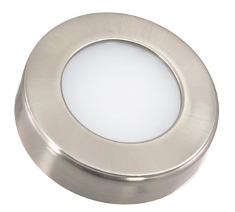 Omni Round Tunable LED Puck Light Single pack with 78'' lead wire and mounting screws, Nickel (44|OMNITWR1NK)