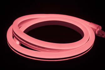 POLAR2 Neon, 150' Reel, 24 Volt, 2.8 W/Ft, 12'' Cuttability, Opaque Jacket, Pink LED, (44|P2NF24VPI)