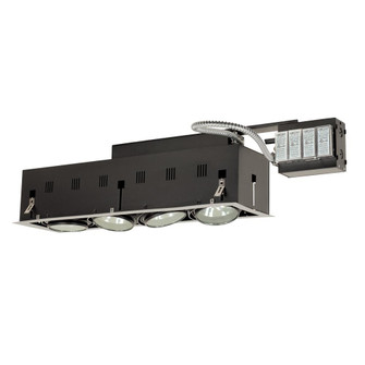 4-Light Double Gimbal Linear Recessed Fixture Low Voltage (614|MGRA1754ESB)