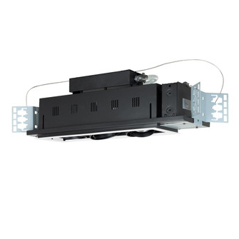 3-Light Double Gimbal Linear Recessed Line Voltage Fixture. (614|MGP203WB)