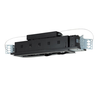 4-Light Double Gimbal Linear Recessed Line Voltage Fixture. (614|MGP204SB)