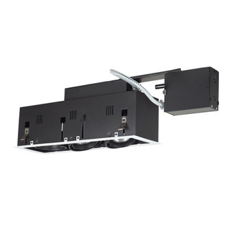3-Light Double Gimbal Linear Recessed Fixture Line Voltage. (614|MGRP203WB)