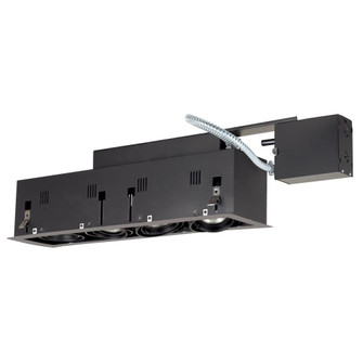 4-Light Double Gimbal Linear Recessed Fixture Line Voltage. (614|MGRP204SB)