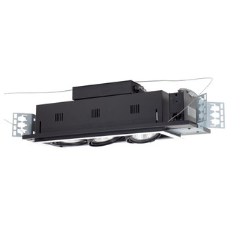 3-Light Double Gimbal Linear Recessed Line Voltage Fixture. (614|MGP303WB)
