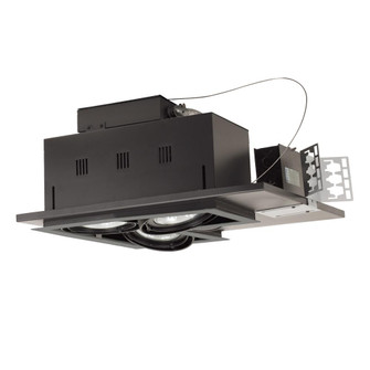 3-Light Double Gimbal Linear Recessed Line Voltage Fixture. (614|MGP303LSB)
