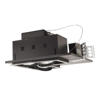 3-Light Double Gimbal Linear Recessed Line Voltage Fixture. (614|MGP303LWB)