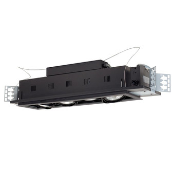 4-Light Double Gimbal Linear Recessed Line Voltage Fixture. (614|MGP304SB)