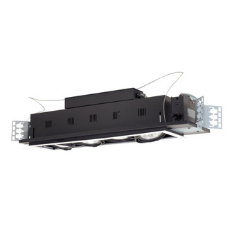 4-Light Double Gimbal Linear Recessed Line Voltage Fixture. (614|MGP304WB)
