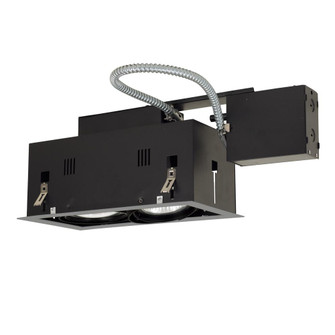 2-Light Double Gimbal Linear Recessed Fixture Line Voltage. (614|MGRP302SB)