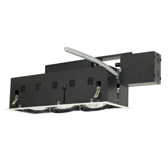 3-Light Double Gimbal Linear Recessed Fixture Line Voltage. (614|MGRP303WB)