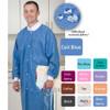 ValuMax Extra-Safe Lab Coat Knee Legnth SMS Color Chart Ceil Blue