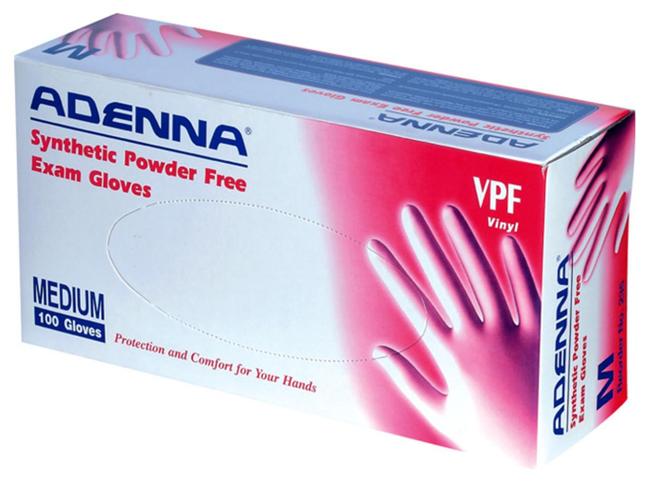 Adenna Vinyl Powder-Free Exam Gloves 100/Box